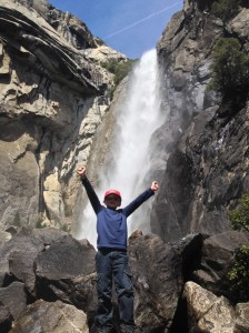 My son, Noah, in Yosemite