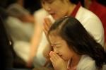 bold prayer little girl and mom